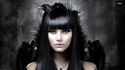 Goth Gothic Metal Raven Female Vampire Dark