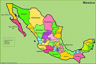 Mexico States Map State Maps Louth Killed