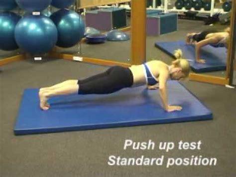 up test push up test