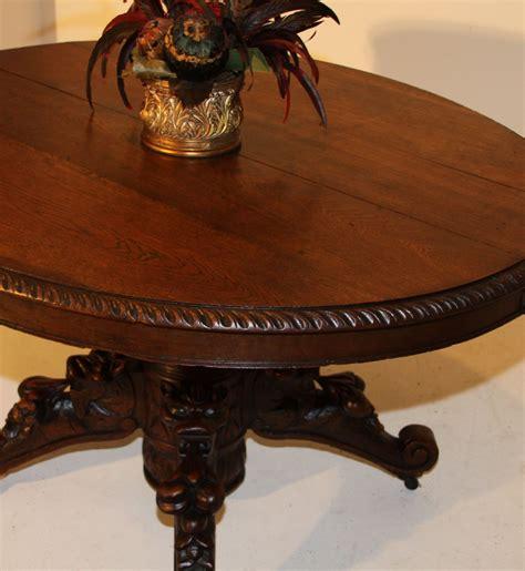 antique l tables sale animal carved oval dining hunt table henry ii antique