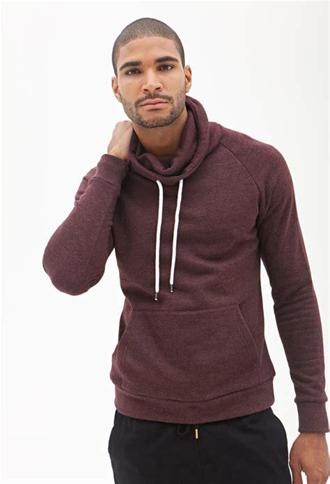 lyst   cowl neck sweatshirt  purple  men