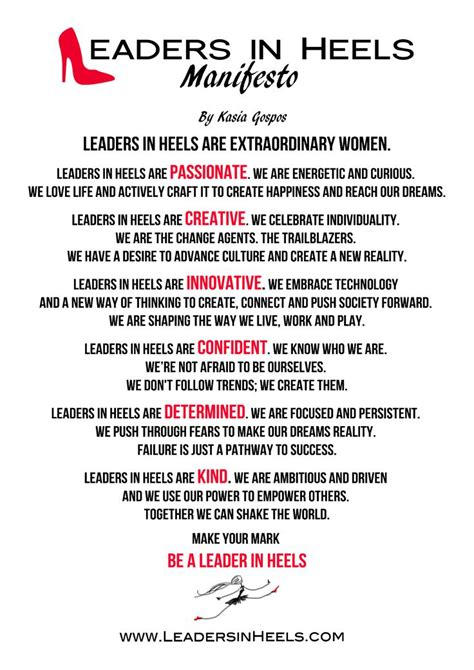 manifesto leadership leadership quote women  leadership