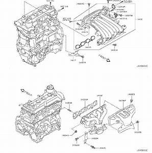 Nissan Versa Engine Intake Manifold Gasket  Exhaust