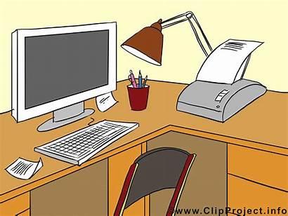 Clipart Clip Place Office Bureau Ordinateur Illustraties