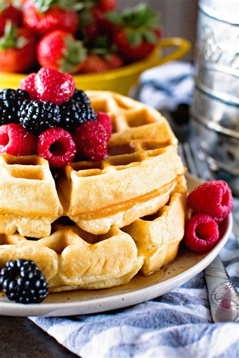 thick fluffy homemade waffles s eats treats