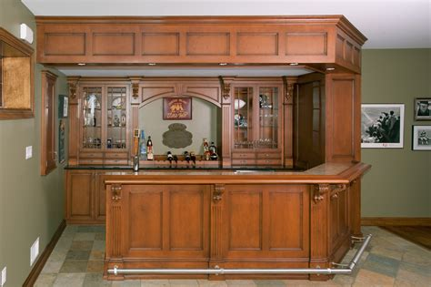 pub home bar custom cabinetry by ken leech