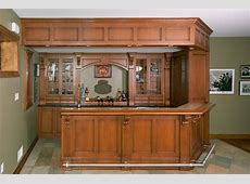 Irish Pub Home Bar Custom Cabinetry by Ken Leech