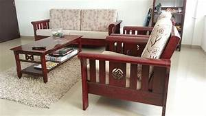 24 simple wooden sofa to use in your home keribrownhomes With simple wood living room furniture design