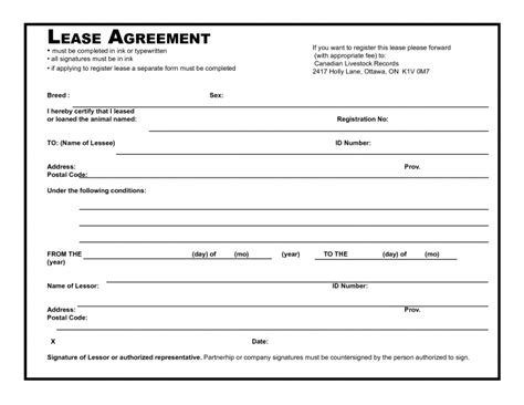 Apartment Lease Agreement Template Business Printable Lease Agreement Agreement Trakore Document