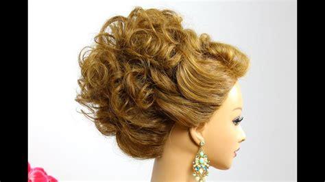 hairstyle  medium hair wedding prom updo tutorial