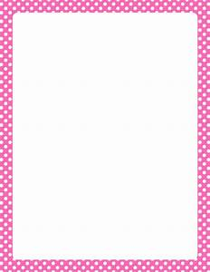 Printable hot pink and white polka dot border. Free GIF ...