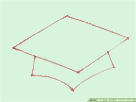 top of graduation cap template how to draw a graduation cap 5 steps with pictures