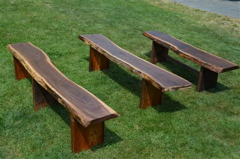 reclaimed wooden benches outdoor garden benches live edge