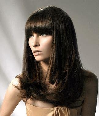 hair styles chic blunt bangs hair styles 2258