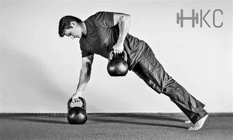 upper body routine workout renegade kettlebell row health