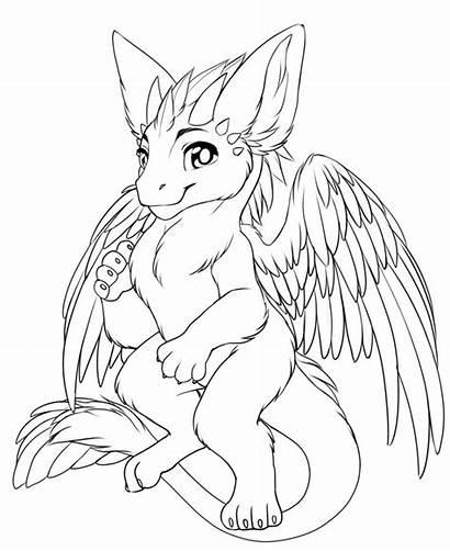 Dragon Angel Wings Dutch Base Lineart Griffin