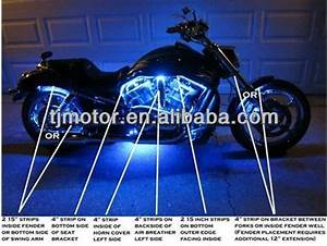 Motorcycle led lighting kit accent strip