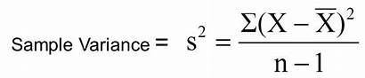 Variance Formula Mean Sample Deviation Standard Point