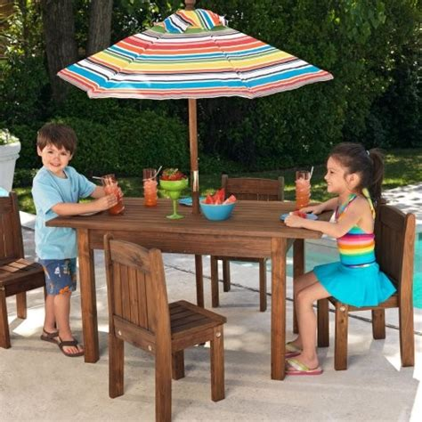 kids outdoor table and chairs kidkraft outdoor table and 4 stacking chairs with striped