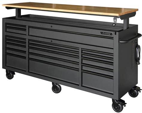 husky mobile workbench  larger   drawers