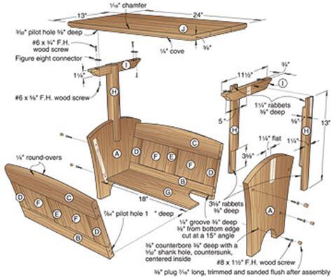 woodworking plans magazine rack   build  easy diy
