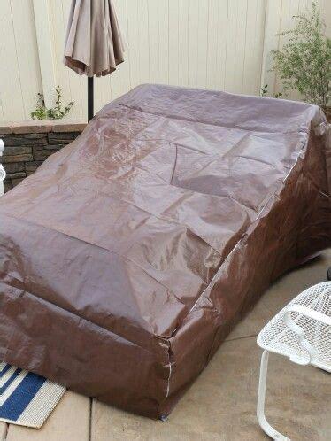 diy patio furniture cover costco tarp  duct tape