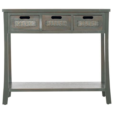 grey console table safavieh autumn blue and grey storage console table 1485