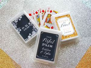 set of 10 custom playing card wedding favor personalized With playing card wedding favors