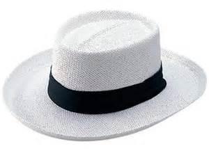 White Straw Gambler Hat