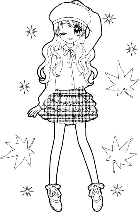 Beautiful Anime Coloring Pages Pictures To Pin On