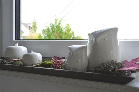 Herbstdeko Fensterbank Innen by Dekoideen F 252 R Die Fensterbank Mit Eulen Tiziano Deko