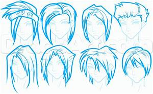 How to Draw Anime Hair For Beginners, Step by Step, Anime ...