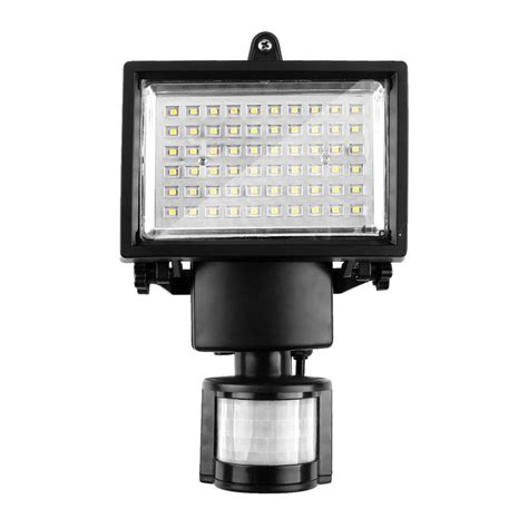 60 led solar motion light cool white security l with