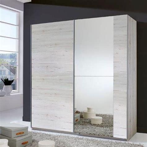 Wardrobe Closet With Mirror Doors by Stripe 2 Door Sliding Wardrobe In White Oak With Mirrored