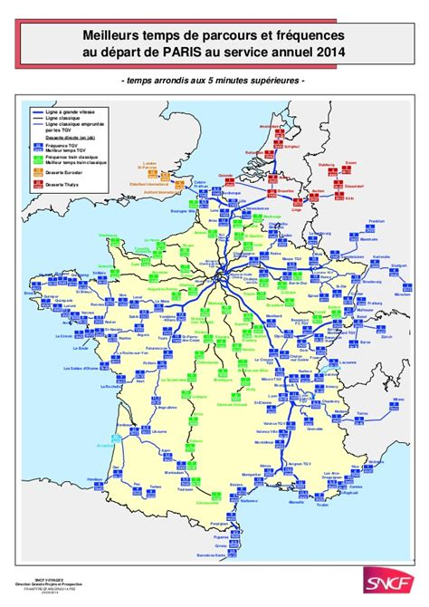 foto de Carte avec les meilleurs temps de parcours et fréquences