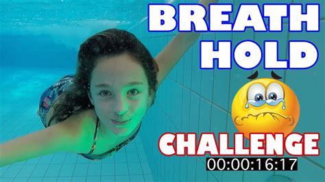 Breath Hold Challenge Underwater