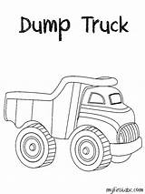 Truck Coloring Toy Dump Pages Simple Printable Template Construction Getcolorings Getcoloringpages sketch template