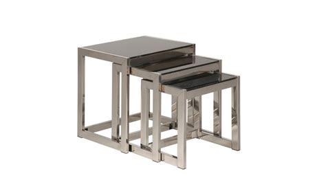 pied fauteuil de bureau ensemble de tables gigognes en inox et verre trempé noir