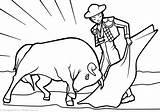 Spain Coloring Pages Matador Culture Template Sketch sketch template