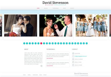 photography website template  photography web