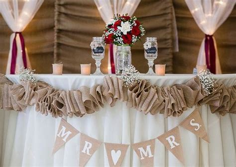 rustic country burlap wedding ideas youll love