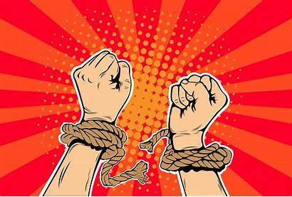 Human Slavery Rights Vector Modern Pop Chains
