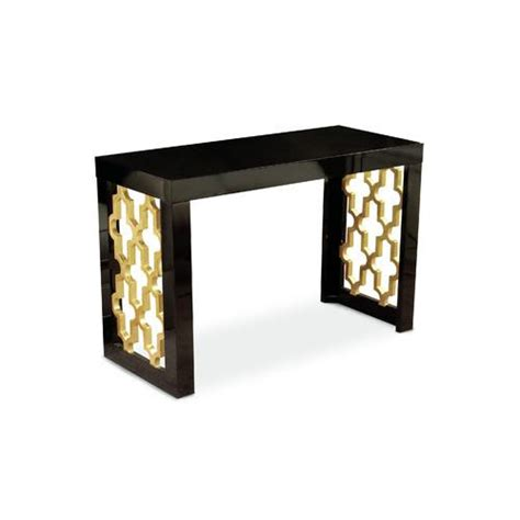black and gold table l coutur inc golden glamour black and gold console table