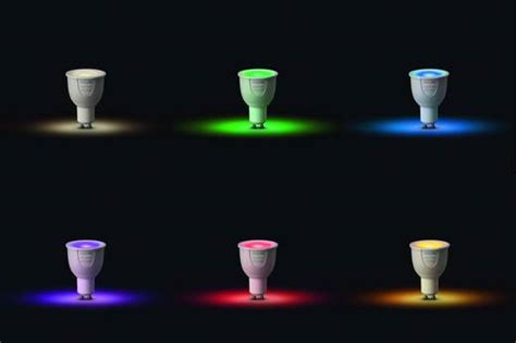 philips hue leuchtmittel philips lighting hue led leuchtmittel einzeln white and color ambiance gu10 6 5 w rgbw