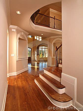 model luxury home interior hallway  stairs stock