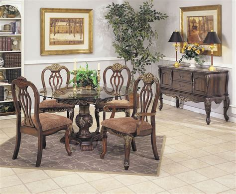 rooms to go round dining table rustic dining room with wooden 4 bordeaux dining chairs