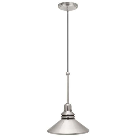 hton bay 17100 1 light 86 in brushed nickel pendant