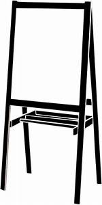 Flip Chart Board With Stand Easel Clip Art At Clker Com Vector Clip Art Online