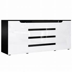Sideboard Schwarz Weiß Hochglanz : sideboard kommode sylt v2 korpus in schwarz matt front in wei hochglanz mit absetzungen in ~ Bigdaddyawards.com Haus und Dekorationen