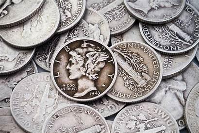 Silver Pile Quarters Dimes Coins Usa Coin